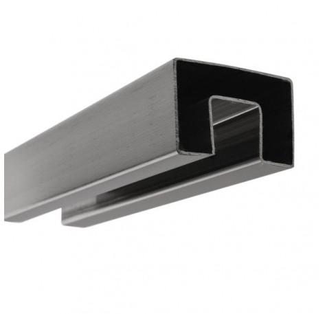 Handlauf hohlwandig 17,52 mm, eckig 60x40 - Edelstahl
