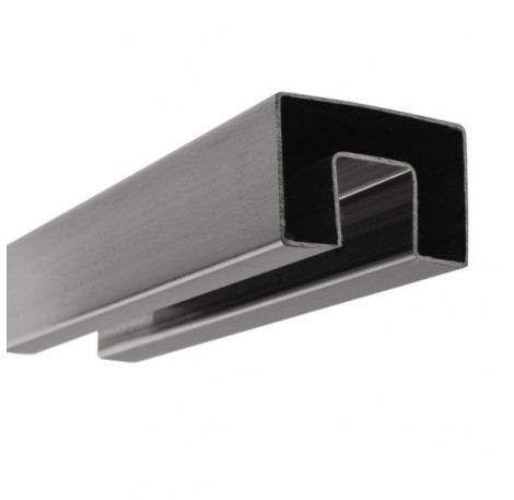 Handlauf hohlwandig 21,52 mm, eckig 60x40 - Edelstahl