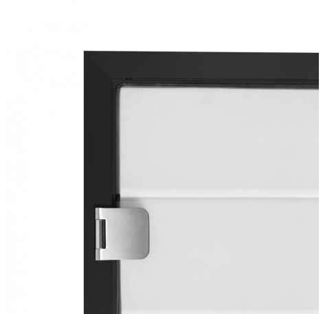 Glas Türzarge 12,76 mm - Schwarz