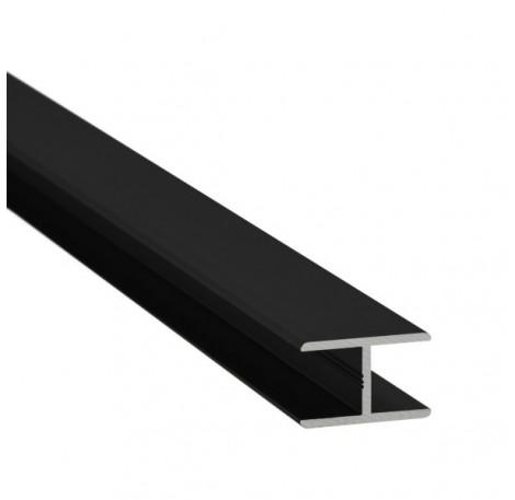 H-Profil Aluminium 21,52 mm - Schwarz