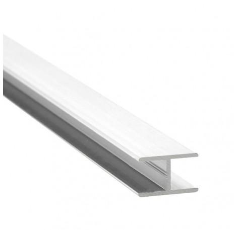 H-Profil Aluminium 17,52 mm - Weiss