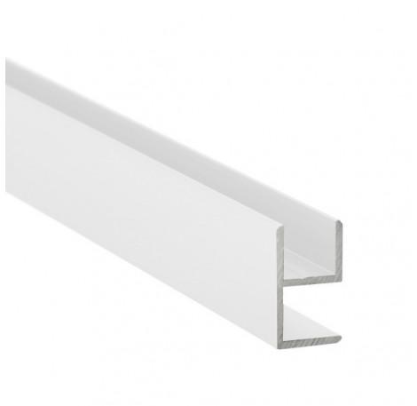 E-Profil-Alu 10 mm - Weiss