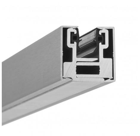 Endstück Glasklemmprofil MINI 8 - 8,76 mm - Edelstahloptik