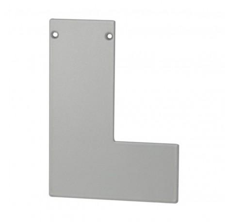 Endkappe rechts für Aufgesetztes Brüstungsprofil mit Flansch - Edelstahloptik