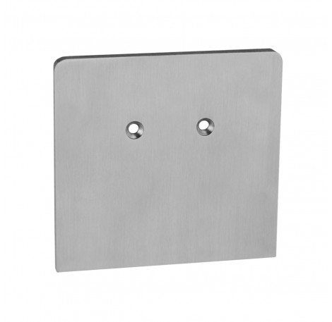 Endkappe für Klemmprofil 17,52 mm, eckiges Design - Edelstahloptik