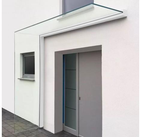 Vordach-Profilsystem 2.400 mm Höhe, Seitenwindschutz rechts - Weiss