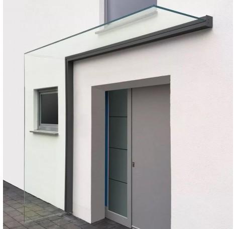 Vordach-Profilsystem 2.400 mm Höhe, Seitenwindschutz rechts - Anthrazit