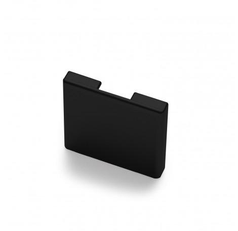 Endkappe für Glas-Klemmprofil MINI 8 - 8,76 mm - Schwarz