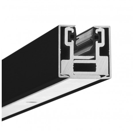 Glas-Klemmprofil MINI 10 - 10,76  mm - Schwarz