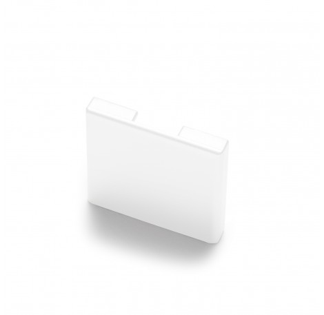 Endkappe für Glas-Klemmprofil MINI 8 - 8,76 mm - Weiss