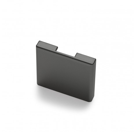 Endkappe für Glas-Klemmprofil MINI 10 - 10,76 mm - Anthrazit