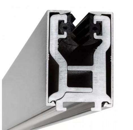 Glas-Klemmprofil  10 - 10,76 mm - Edelstahloptik gebürstet