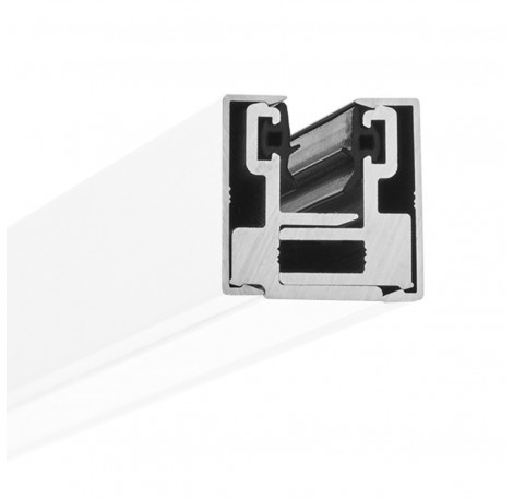 Endstück Glasklemmprofil MINI 8 - 8,76 mm - Weiss