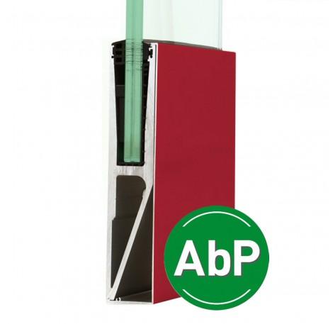 Vorgesetztes Brüstungsprofil 17,52 mm,  zur erhöhten Montage - Individuelle Farbe