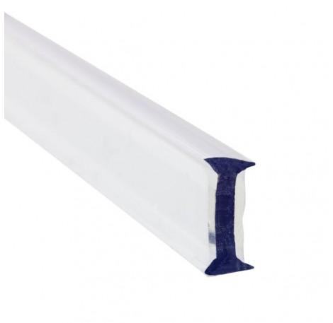 Glas Verbindungsprofil 180° PET 12 mm - 3 m - Transparent