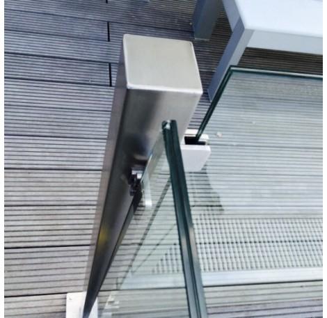 Eck-Pfosten System F 60x60 mm zum Aufschrauben