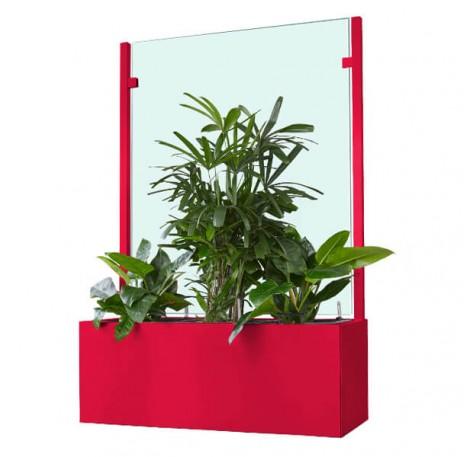 Pflanzkasten mit Wind- und Sichtschutz 1000 mm - Neopor - Individuelle Farbe