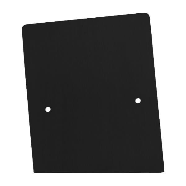 Frontalansicht der linken Endkappe in schwarz