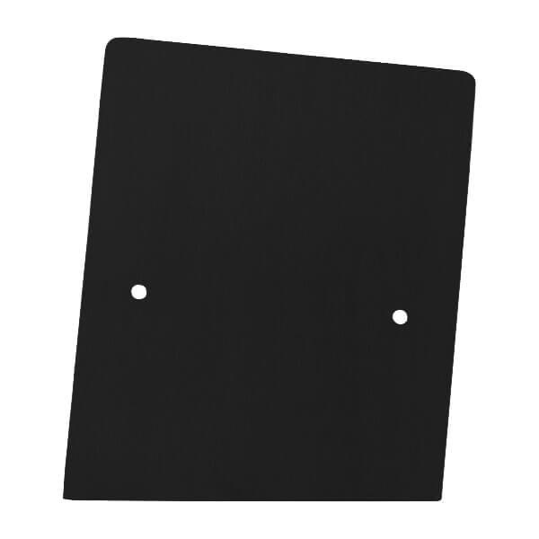 Frontalansicht der rechte Endkappe in schwarz