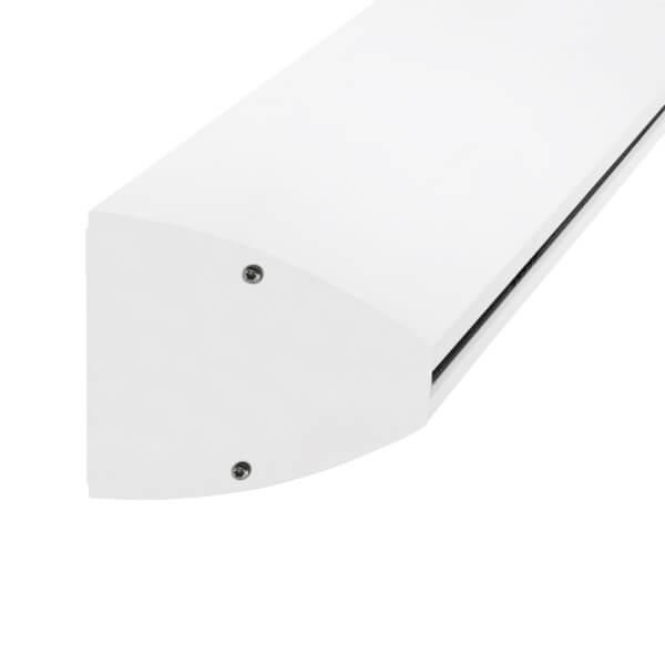 Wandklemmprofil 0° 17,52 mm, oval - Weiss