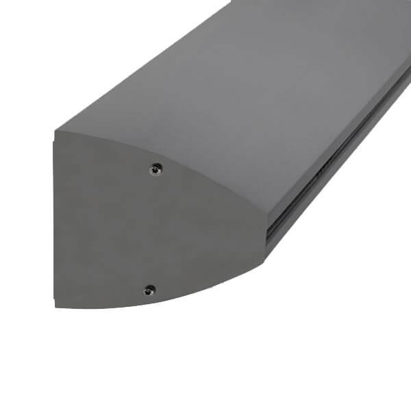Wandklemmprofil 0° 17,52 mm, oval - Anthrazit