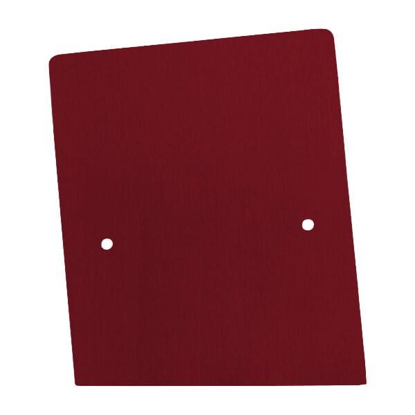 Endkappe links aus Edelstahl in individueller Farbe