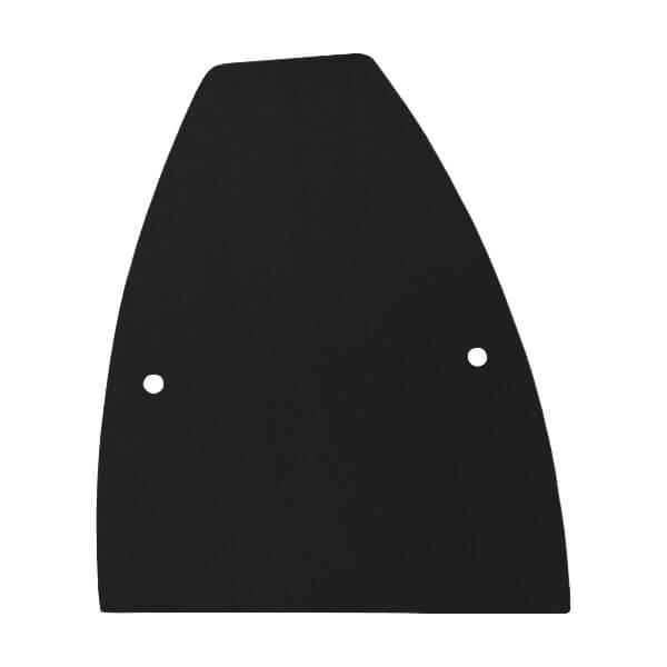 Frontalansicht der rechten Endkappe in schwarz