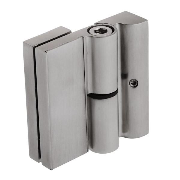 Scharnier für die Wandbefestigung, Anwendung bei Glastüren in der Dusche oder Wohnbereich