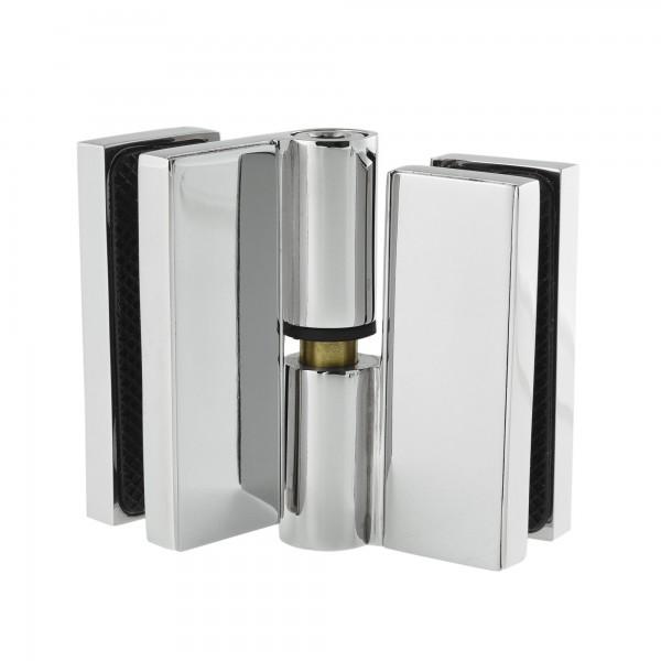 Hebe-Senk-Funktion beim Glas-Glas-Scharnier