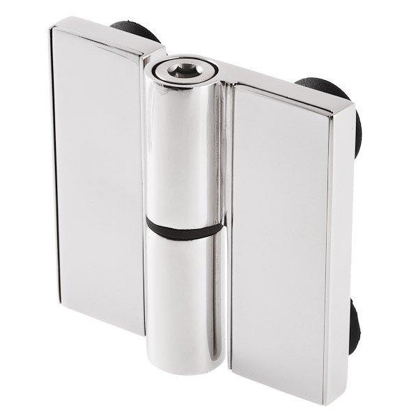Scharnier für die Glas-Glas-Verbindung mit einem Öffnungswinkel bis 180°