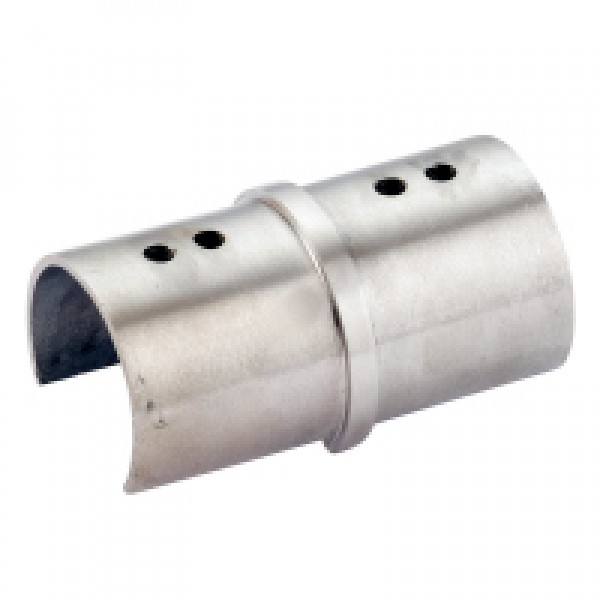 Stabiler Längsverbinder 180° für den runden Handlauf