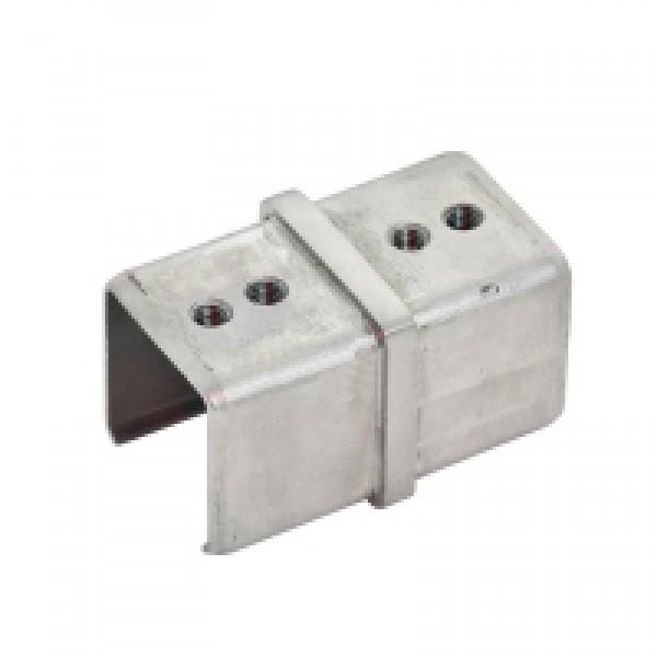 Stabiler Längsverbinder 180° für den eckigen Handlauf 40x40 mm