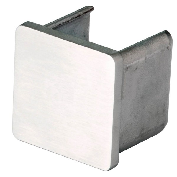 Endkappe Rechts/Links für Handlauf hohlwandig eckig