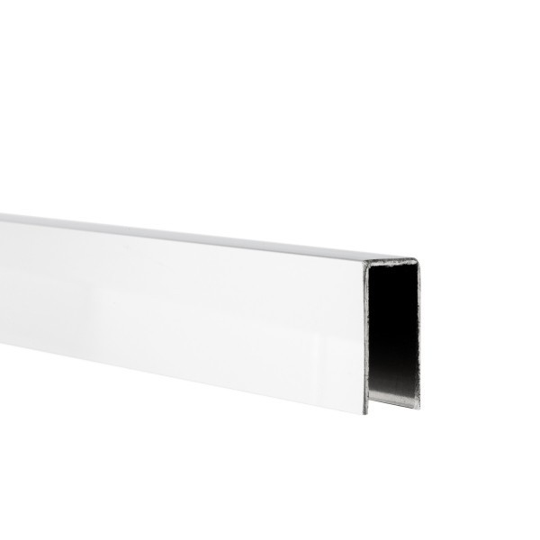 U-Profil innen 10,5 mm | Hochglanz | 2,5 m lang