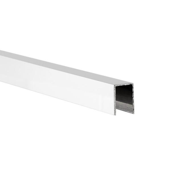 U-Profil für 8 mm Glasstärke in Hochglanz-Ausführung