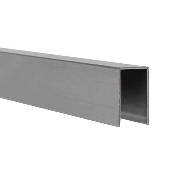 U-Profil innen 12,5 mm | matt gebürstet | 4 m lang
