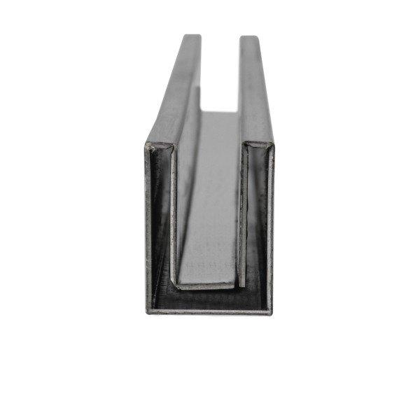 U-Profil hohlwandig | innen 10,5 mm | matt gebürstet | 2 m lang