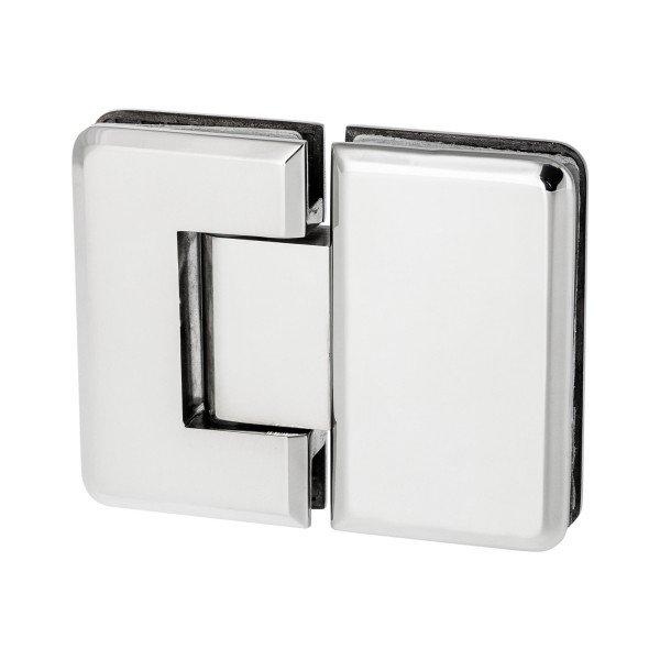 Glas-Glas-Scharnier mit 180° Öffnungswinkel