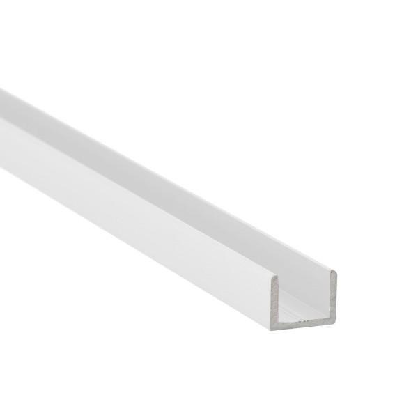 U-Profil aus Aluminium für Glasstärke 10 mm