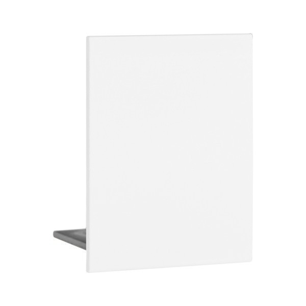Endkappe aus Aluminium in Weiss