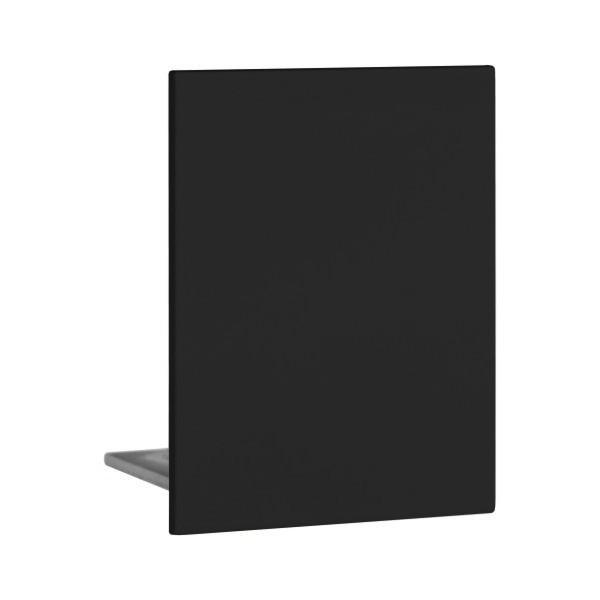Endkappe aus Aluminium in Schwarz