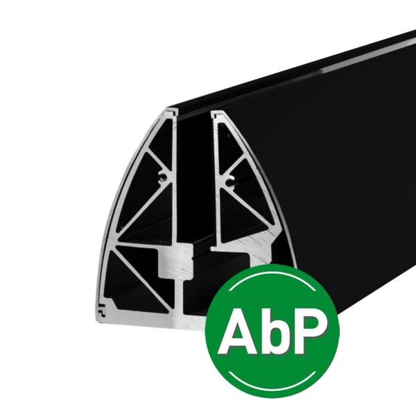 Stabile Bodenklemmleiste für Ganzglasgeländer zur aufgesetzten Montage mit AbP