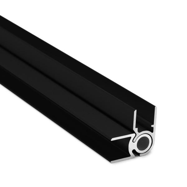 Flex-Eck-H-Profil-92° 10 mm - Schwarz