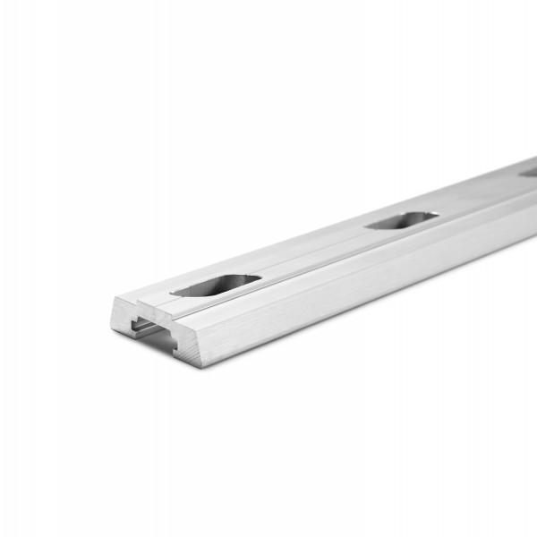 Distanzprofil für Bodenprofil zur aufgesetzten Montage von Glasbrüstungen ohne Flansch