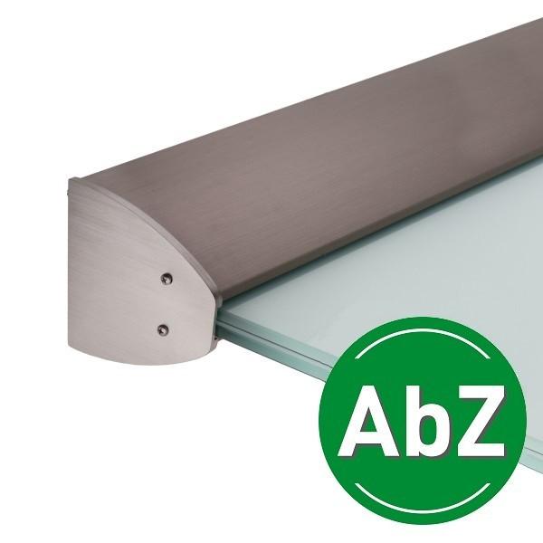 Wandklemmprofil 5° Dachneigung für 17,52 mm SentryGlas ovale Abdeckung Aluminium - Edelstahloptik