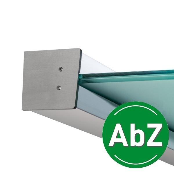 Wandklemmprofil 5° Dachneigung 17,52 mm, eckig - Edelstahloptik