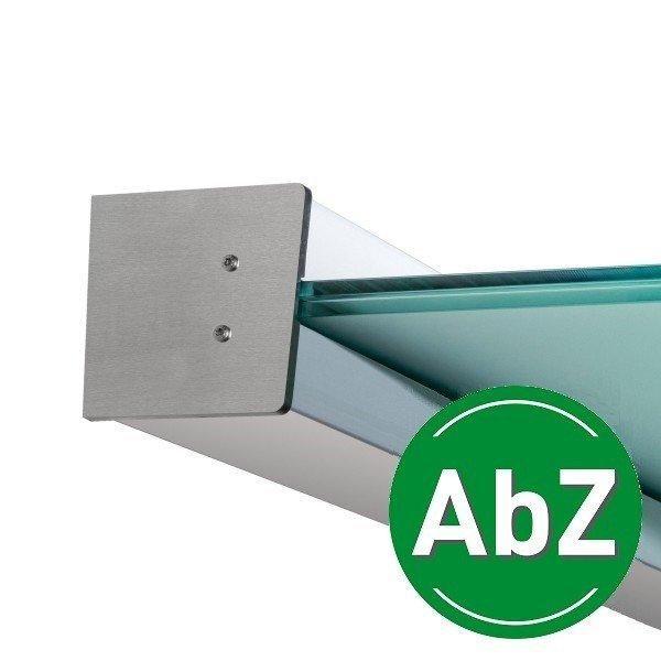 Wandklemmprofil 5° Dachneigung für 17,52 mm SentryGlas eckige Abdeckung Aluminium - Edelstahloptik