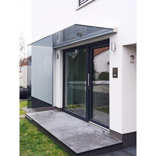 Profilsystem für Vordach und Seitenwindschutz mit Verbindung über 90° - Fixhöhe 2.400 mm