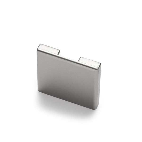 Endkappe für Glastrennwandprofil Mini 8 mm Edelstahloptik