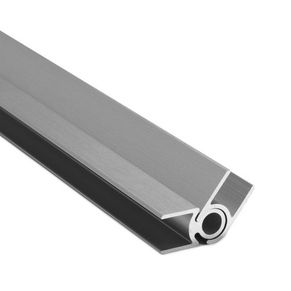 Flex-Eck-H-Profil-128° 10 mm - Edelstahloptik